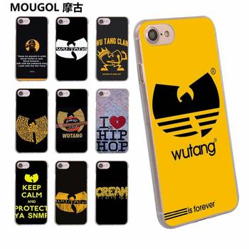 MOUGOL Wu Tang tasarım şeffaf clear hard case kapak Apple iPhone 6 6 S 6 Artı 7 7 Artı 5 5 s SE 5C