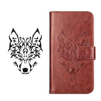 GUCOON Embossed Skull Wolf Case for Cubot King Kong 5.0inch Vintage Protective Phone Shell Fashion Cool Cover Bag