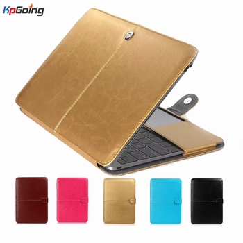 KpGoing Vintage PU Deri Kılıf Apple Macbook Air Pro Retina 11 12 13.3 15 Macbook Hava 13 için A1932 laptop Case Kapak Fundas