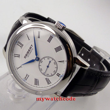 40mm Debert beyaz Roman marks mavi eller ikinci at 6 otomatik mens Watch36