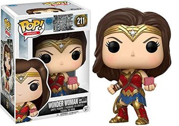 Özel FUNKO POP Resmi DC Heroes Justice League-Wonder Woman (Motherbox) #211 Vinil Action Figure Koleksiyon Model Oyuncak