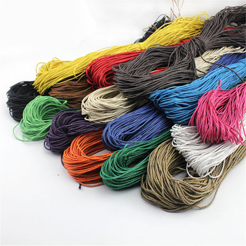 80m Wholesale Durable 21 Colors High Tenacity 1mm/1.5mm Waxed Cotton Cord Wax Macrame Jewelry Beading String